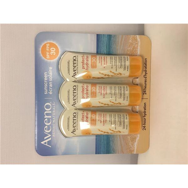 New 3pk aveeno sunscreen