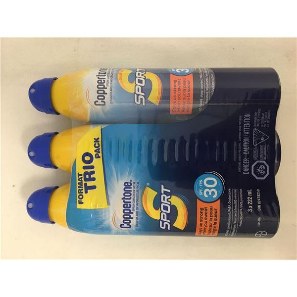 New 3pk coppertone sunscreen