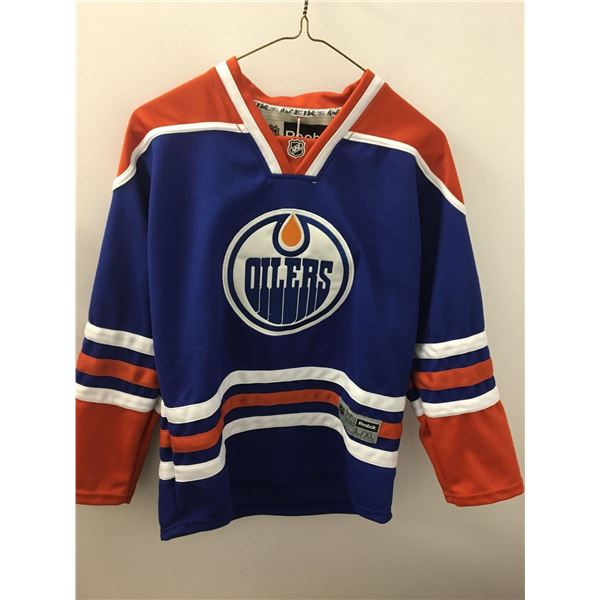 Oilers hall jersey reebok sz.youth lg