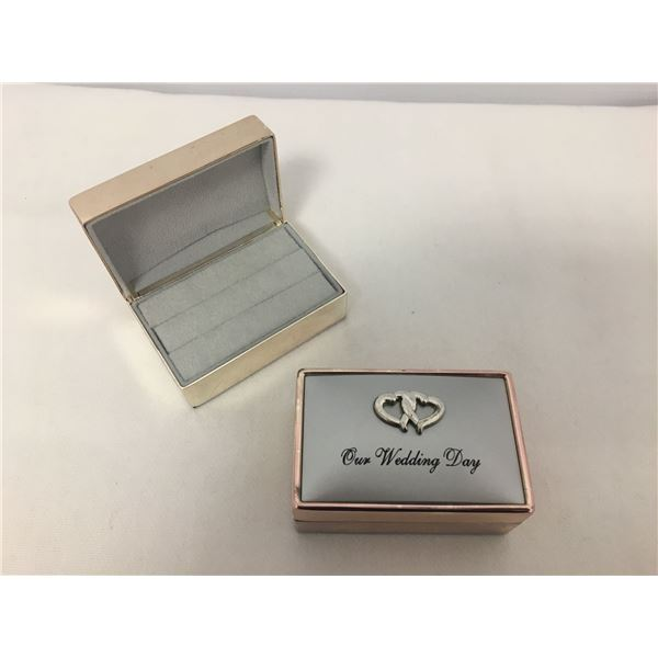 2 New wedding ring boxes