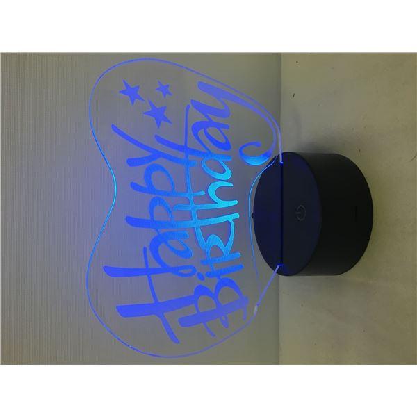 New 3D lamp happy b-day