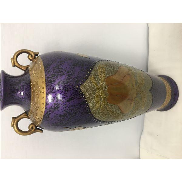 NEW lg vase 2ft purple