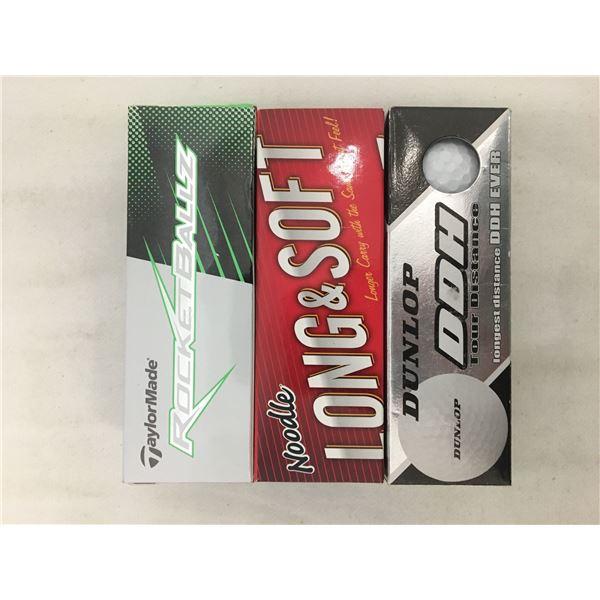 New 3 pack golf balls