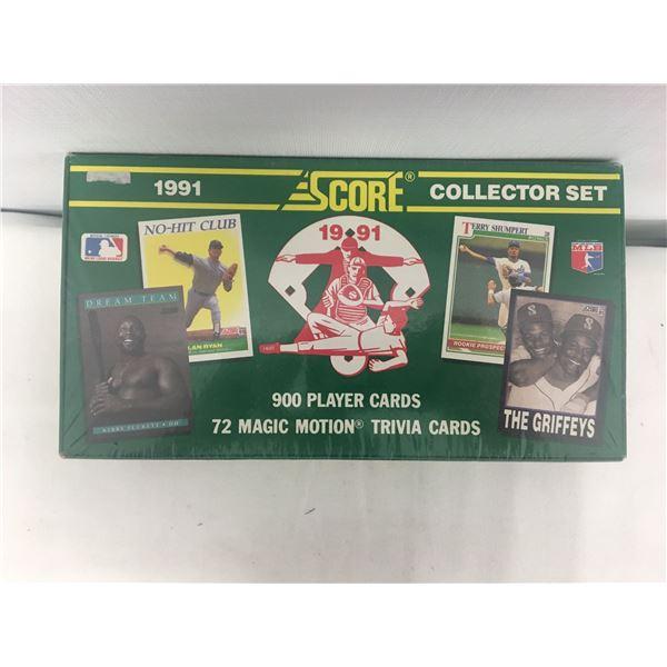 New 1991 score baseball set