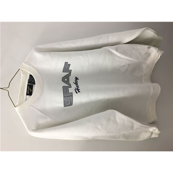 New graff sweater white large