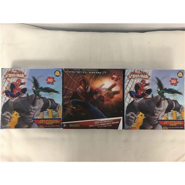 3 new spiderman puzzles