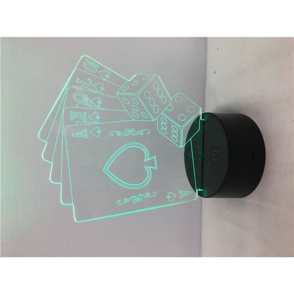 New 3D lamp playing cards