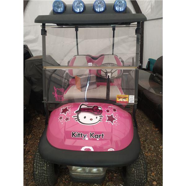 Customized Hello Kitty Golf Cart 2010ish- Stereo - Custom Lighting