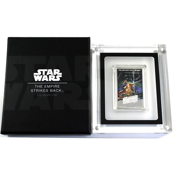 2017 Niue $2 Star Wars: The Empire Strikes Back 1oz Fine Silver Poster Bar. (TAX Exempt)