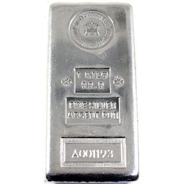 *1 Kilo Royal Canadian Mint .999 Fine Silver Bar.  This was a limited production run Unique old pour