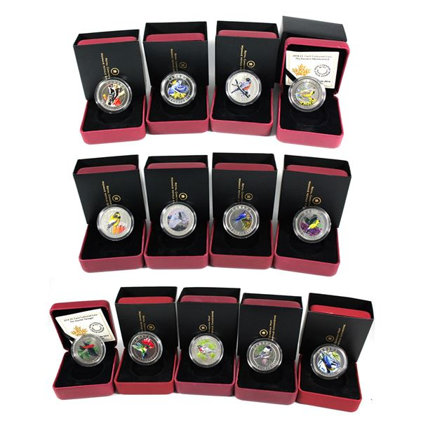 Complete 2007-2014 Birds of Canada 25-cent Cupronickel Coin Set of 13 coins. You will receive 2007 r
