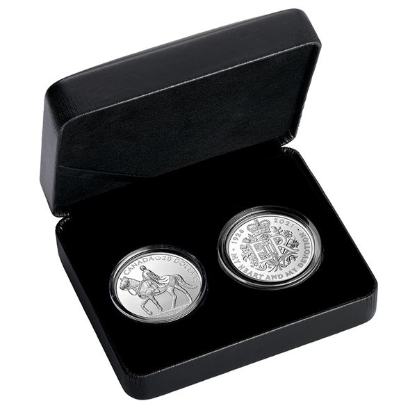 2021 Canada & Great Britain Royal Celebration 2-coin Fine Silver Set from the Royal Canadian Mint