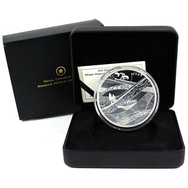 2010 Canada $50 Olympic Winter Games - The Look of the Games 5oz Fine Silver Coin. TAX Exempt