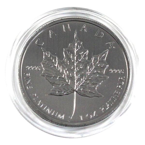2013 Canada 1oz .9995 Fine Platinum Maple Leaf in Capsule. (TAX Exempt)
