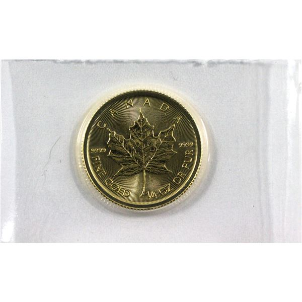 2020 Canada 1/4oz .9999 Fine Gold Maple in Sealed Mint Plastic. (TAX Exempt)