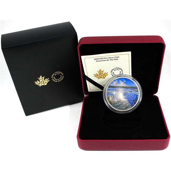 2018 Canada $30 Fireworks at the Falls 2oz Fine Silver Coin. TAX Exempt