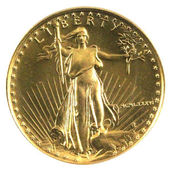 1986 USA 1/4oz Fine Gold Eagle in Capsule. (TAX Exempt)