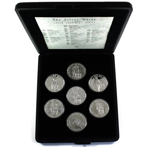 1994-2000 Netherlands The Silver Ducat Seven Provinces Series 7-coin Set. You will receive 7 replica