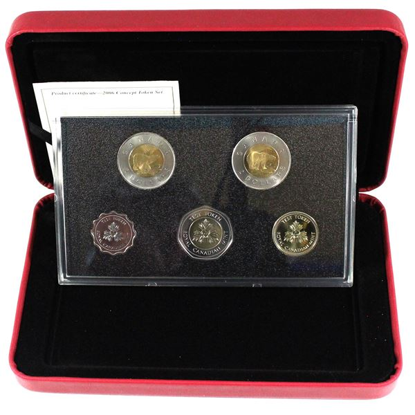 2006 Canada 10th Anniversary of the $2 Coin Concept Test Token Set.