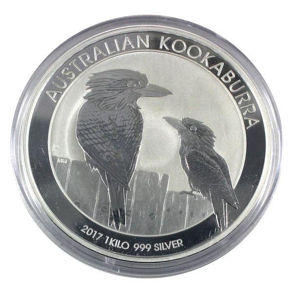 *2017 Australia 1 Kilo .999 Fine Silver Kookaburra in Capsule. TAX Exempt