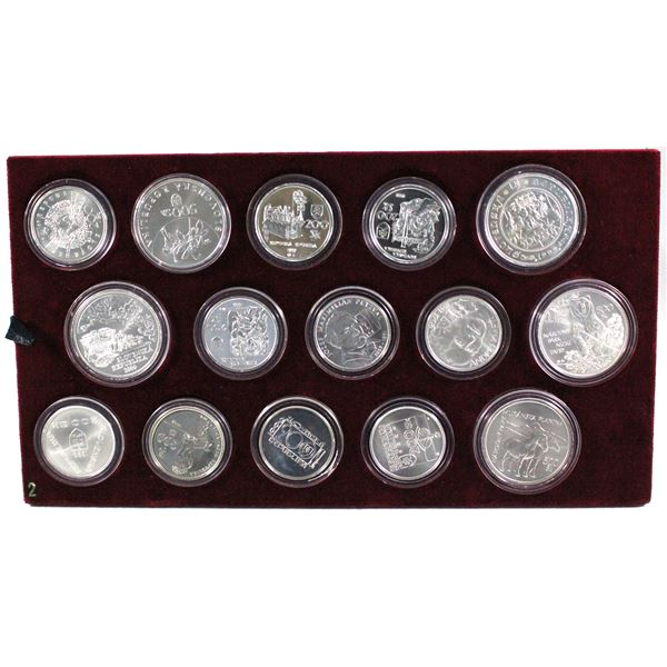 *1993-2008 Slovakia Republic  54-coin Brilliant Uncirculated Coin Set with Rare non-issued Pure gold