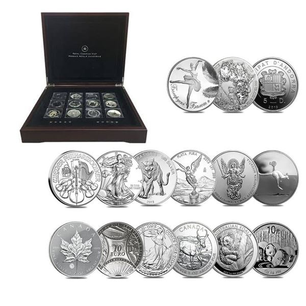 2013 The Fabulous 15 The World's Most Famous Silver Coins 15-coin Silver Coin Set in Deluxe Display