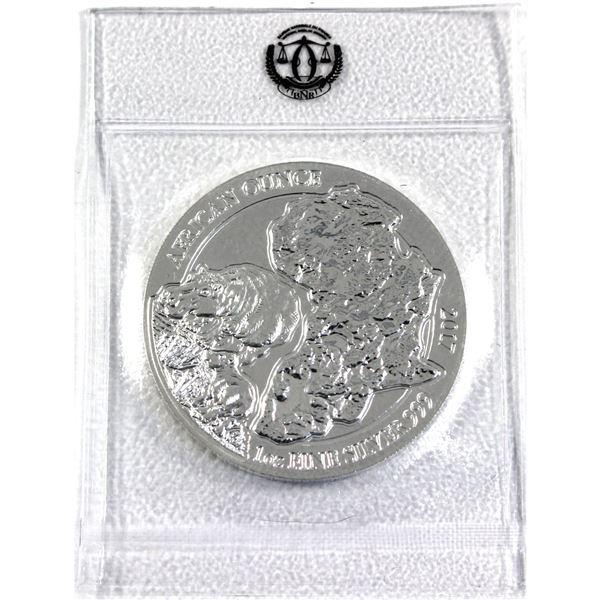 2017 Rwanda 1oz .999 Fine Silver African Hippo in Original Mint Sealed Plastic. (TAX Exempt)