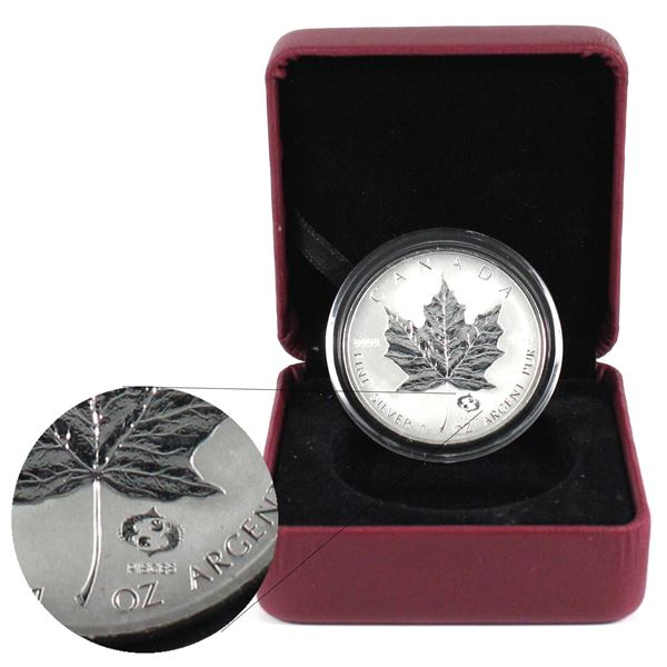 2004 Canada $5 Pisces Privy Fine Silver Maple Leaf Encapsulated in Red RCM Display Box. TAX Exempt