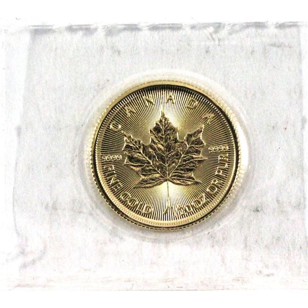 2020 Canada 1/20oz .9999 Fine Gold Maple Leaf in Sealed Mint Plastic. (TAX Exempt)
