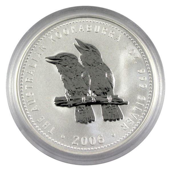 2006 Australia 1oz .999 Fine Silver Kookaburra. TAX Exempt