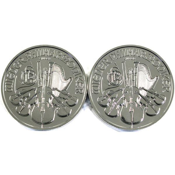 2021 Austria 1oz .999 Fine Silver Philharmonics. 2pcs (TAX Exempt)
