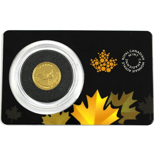 2016 Canada 1/10oz Growling Cougar .99999 Fine Gold Coin in Capsule and Card. (TAX Exempt)