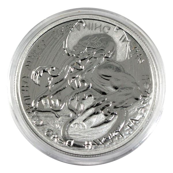 2021 Tokelau $2 The Great Old One - Cthulhu 1oz .999 Fine Silver Coin in Capsule. (TAX Exempt)
