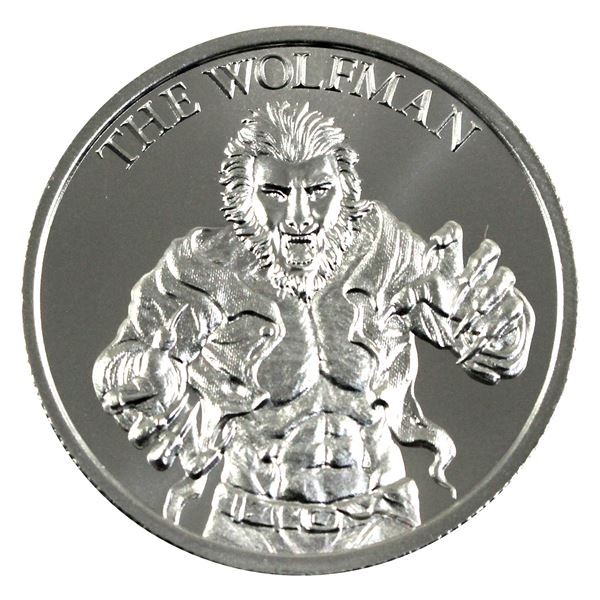 Vintage Horror - The Wolf man High Relief 2oz .999 Silver Coin by Intaglio Mint. (TAX Exempt)