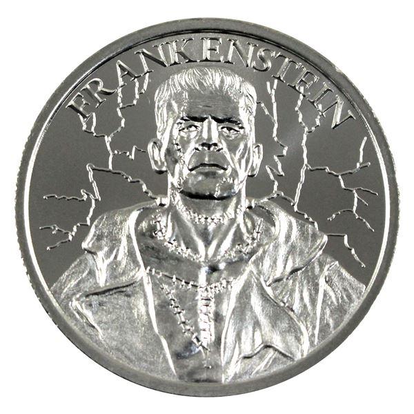 Vintage Horror - Frankenstein High Relief 2oz .999 Silver Coin by Intaglio Mint. (TAX Exempt)