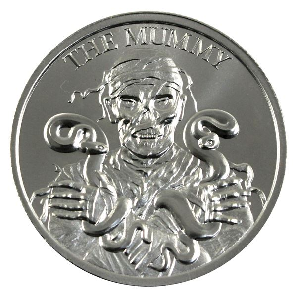 Vintage Horror - The Mummy High Relief 2oz .999 Silver Coin by Intaglio Mint. (TAX Exempt)