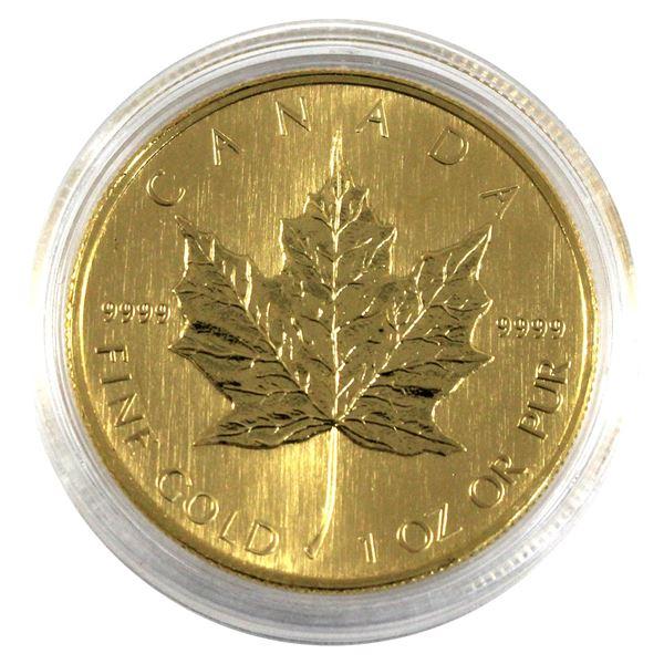 2008 Canada 1oz .9999 Fine Gold Maple Leaf in Capsule. TAX Exempt
