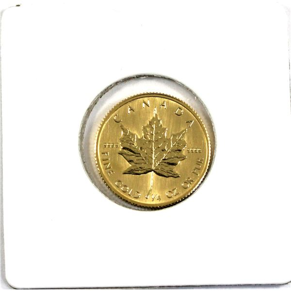 1986 Canada 1/4oz .9999 Fine Gold Maple Leaf. (TAX Exempt)