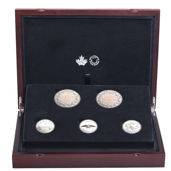 *2017 Canada Legacy of the Penny Fine Silver 5-coin Set. TAX Exempt