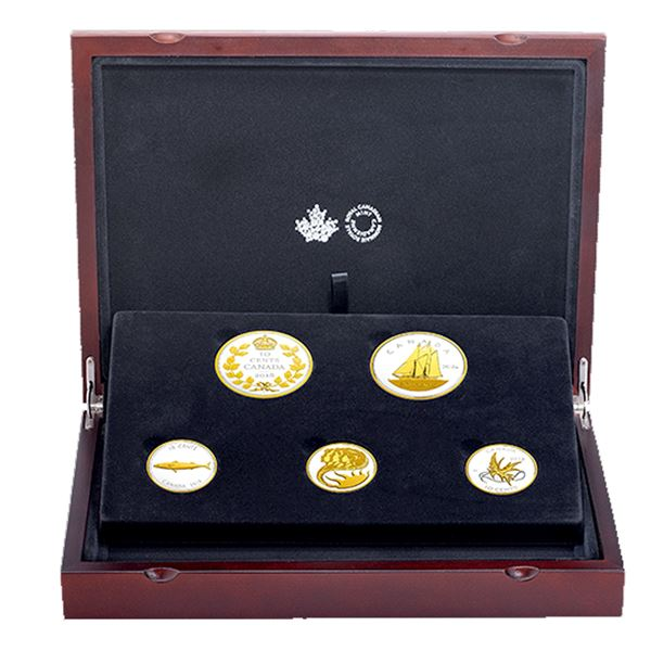 *2018 Canada Legacy of the Dime 5-coin Fine Silver Set. TAX Exempt