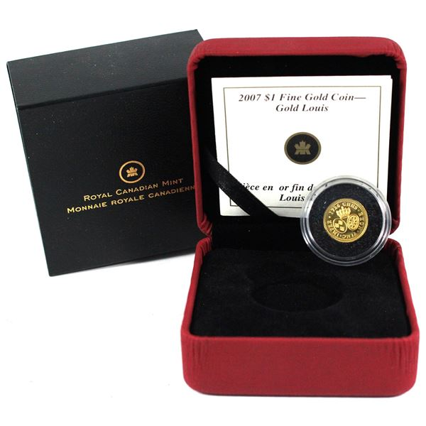 2007 Canada $1 Gold Louis 1/20oz .999 Fine Gold Coin. TAX Exempt