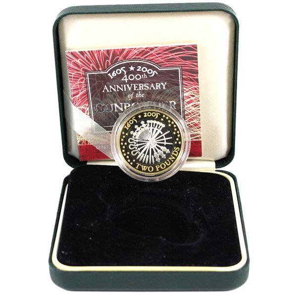 1605-2005 United Kingdom 2 Pound 400th Anniversary of the Gunpowder Plot Sterling Silver Proof Coin