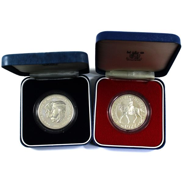 1977 United Kingdom Silver Jubilee & 1981 Prince Charles and Lady Diana Commemorative Sterling Silve