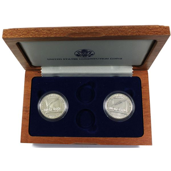 1987 United States Constitution Coins Set Including Only the Silver Dollars in Brilliant Uncirculate