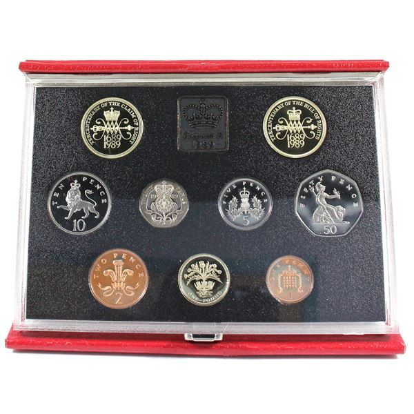 1989 United Kingdom Proof 9-Coin Collection.