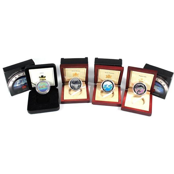 2003-2004 Canada $20 Natural Wonders Fine Silver Coins - 2003 Niagara Falls, 2003 Canadian Rockies,