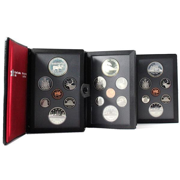1985, 1986 & 1987 Canada 7-coin Proof Double Dollar. 1986 includes COA. 3pcs