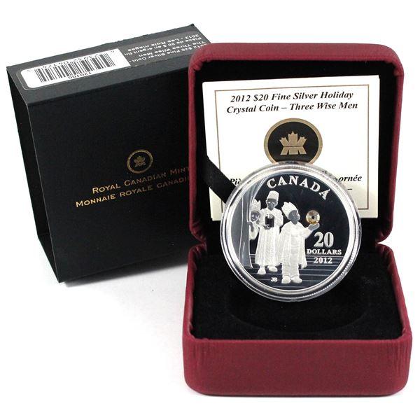 2012 Canada $20 The Three Wise Men Fine Silver Coin.