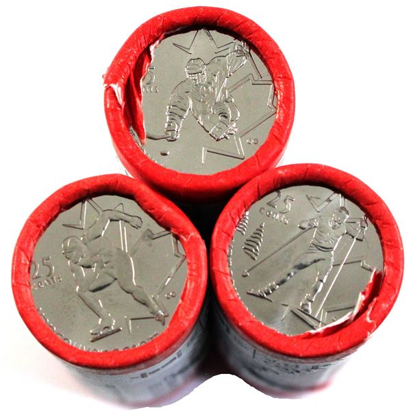 2009 Canada 25-cent Olympic Commemorative Special Wrap Original Rolls of 40pcs - Speed Skating, Cros