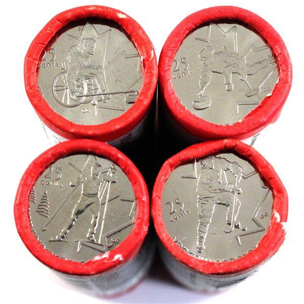2007 & 2009 Canada 25-cent Olympic Commemorative Special Wrap Original Rolls of 40pcs - 2007 Curling
